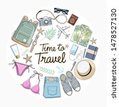 time to travel concept. travel... | Shutterstock .eps vector #1478527130