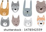 set of cute funny little... | Shutterstock .eps vector #1478542559