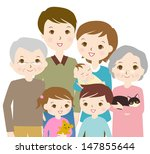 family illustration  | Shutterstock . vector #147855644