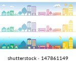 rows of houses illustration  | Shutterstock . vector #147861149