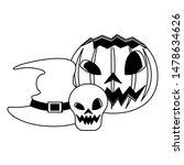 halloween october scary... | Shutterstock .eps vector #1478634626