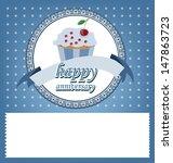 card. template design. cake... | Shutterstock .eps vector #147863723