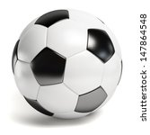 leather football. single soccer ... | Shutterstock . vector #147864548