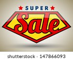 super sale tag banner. can use... | Shutterstock .eps vector #147866093