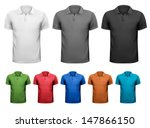 black and white and color men t ... | Shutterstock .eps vector #147866150