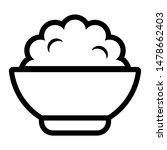 rice bowl icon. natural grain... | Shutterstock .eps vector #1478662403