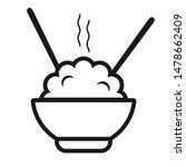 rice bowl icon. natural grain... | Shutterstock .eps vector #1478662409