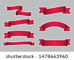set of red ribbon banner icon... | Shutterstock .eps vector #1478663960