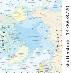 map of the arctic with the... | Shutterstock . vector #1478678720