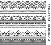 seamless borders pattern for...