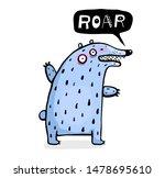 funny bear for kids talking... | Shutterstock . vector #1478695610