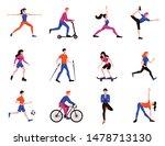 sport activities flat... | Shutterstock .eps vector #1478713130