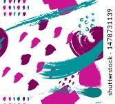 colored brush stokes seamless...   Shutterstock .eps vector #1478731139