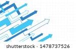 abstract financial chart arrows ... | Shutterstock .eps vector #1478737526