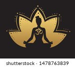 vector yoga illustration in... | Shutterstock .eps vector #1478763839