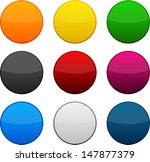 set of blank colorful round... | Shutterstock .eps vector #147877379