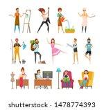 peoples hobbies variety. dress...   Shutterstock . vector #1478774393