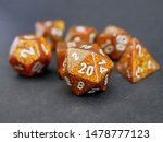 D D Ttrpg Glitter Gold Dice Set