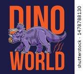 triceratops big dangerous dino... | Shutterstock .eps vector #1478788130