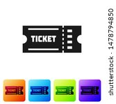 black ticket icon isolated on... | Shutterstock .eps vector #1478794850