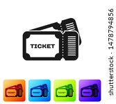 black ticket icon isolated on... | Shutterstock .eps vector #1478794856