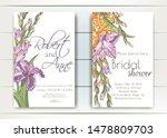 vector delicate invitation with ... | Shutterstock .eps vector #1478809703