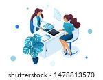 young woman doctor advises the... | Shutterstock .eps vector #1478813570