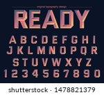 warm chrome metal artistic font ...   Shutterstock .eps vector #1478821379