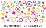 80s background with symbols.... | Shutterstock .eps vector #1478826629