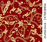gold baroque elements and... | Shutterstock .eps vector #1478838806