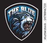 the blue lion logo design | Shutterstock .eps vector #1478846723