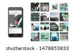 social media pack. set of... | Shutterstock .eps vector #1478853833