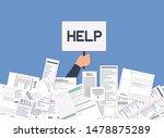 businessman needs help under a... | Shutterstock .eps vector #1478875289
