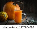 Glass Cup Of Fresh Pumpkin...