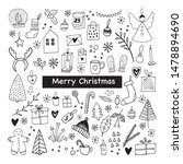 big set of new year and xmas... | Shutterstock .eps vector #1478894690