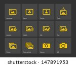 photographs and camera icons....