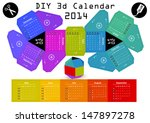 3d DIY Calendar 2014 | 3,1Ã?Â?2,9 inch compiled size | Assembly instructions: https://www.youtube.com/watch?v=TgZUOk0DzXo
