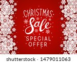 christmas sale paper snowflakes ... | Shutterstock .eps vector #1479011063