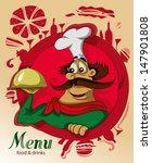 chef menu | Shutterstock .eps vector #147901808