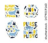 no more plastic word concept... | Shutterstock .eps vector #1479019160