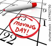 the words moving day and a date ... | Shutterstock . vector #147902750