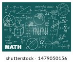chalk doodle math blackboard.... | Shutterstock .eps vector #1479050156