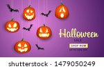 halloween sale lettering with... | Shutterstock .eps vector #1479050249