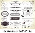 calligraphic design elements... | Shutterstock .eps vector #147905246