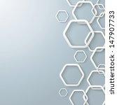 white hexagon rings with...   Shutterstock .eps vector #147907733