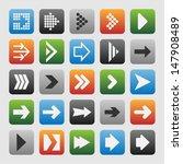 arrow pictogram | Shutterstock .eps vector #147908489