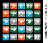 arrow icon set | Shutterstock .eps vector #147908516