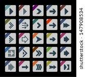 arrow icons | Shutterstock .eps vector #147908534