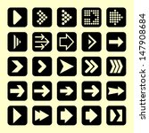 arrow icon set. 25 elements.