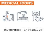medical vector icons set  sign... | Shutterstock .eps vector #1479101729